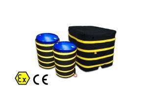 Couvertures chauffantes Atex (fûts, barils, bouteilles, conteneurs grv)