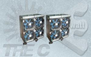 Aérothermes électriques (batteries électriques avec ventilateur)