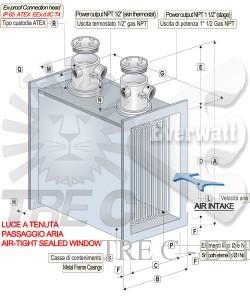 Batteries de chauffage à air ATEX
