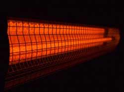 Résistances tubulaires au quartz halogènes infrarouges