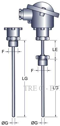 Thermomètres à résistance platine PT100