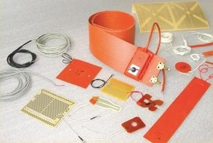 Résistances plates en caoutchouc de silicone, mylar, mica, kapton et ptfe