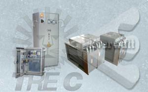 Batteries de chauffage air et panneaux de contrôle